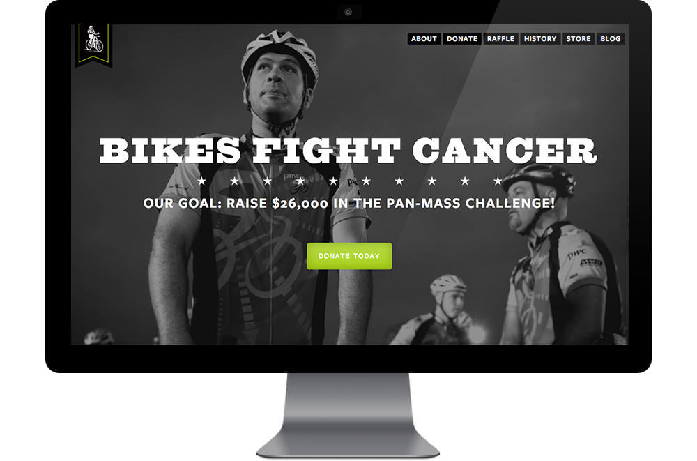 Bikes Fight Cancer Web Site