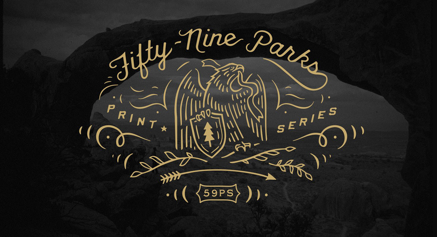 Fifty-Nine Parks Print Series Topper